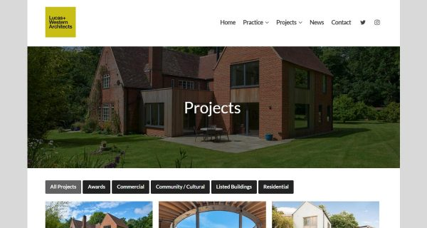 Lucas And Western Architects - New Website