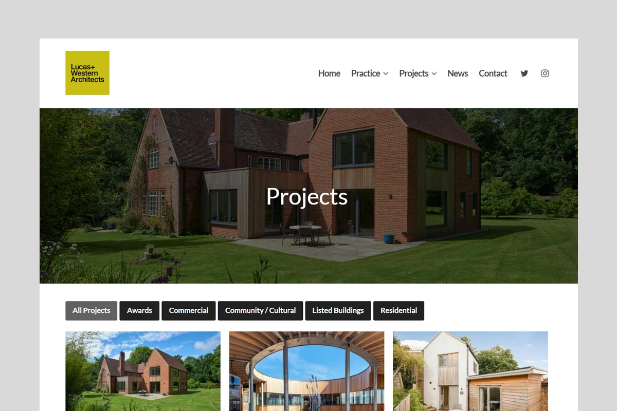 Lucas+Western Architects Ltd New Website Goes Live